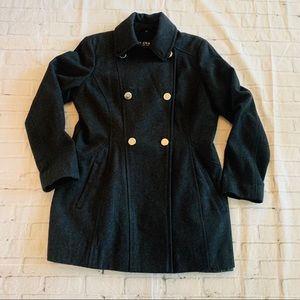 Guess Charcoal Gray PeaCoat Women's Size Large